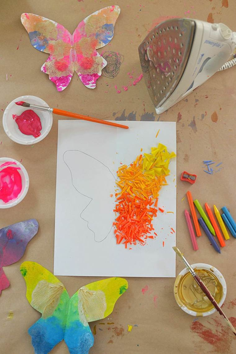 Artesanía para adolescentes y preadolescentes - Mariposas de cera fundida