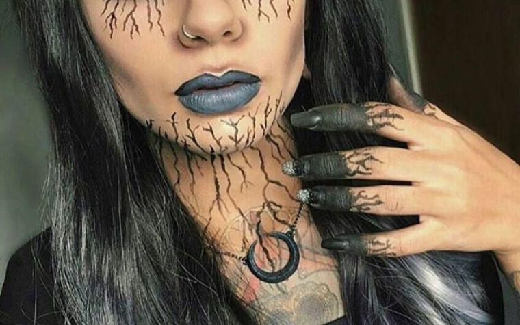 maquillaje de bruja adorno