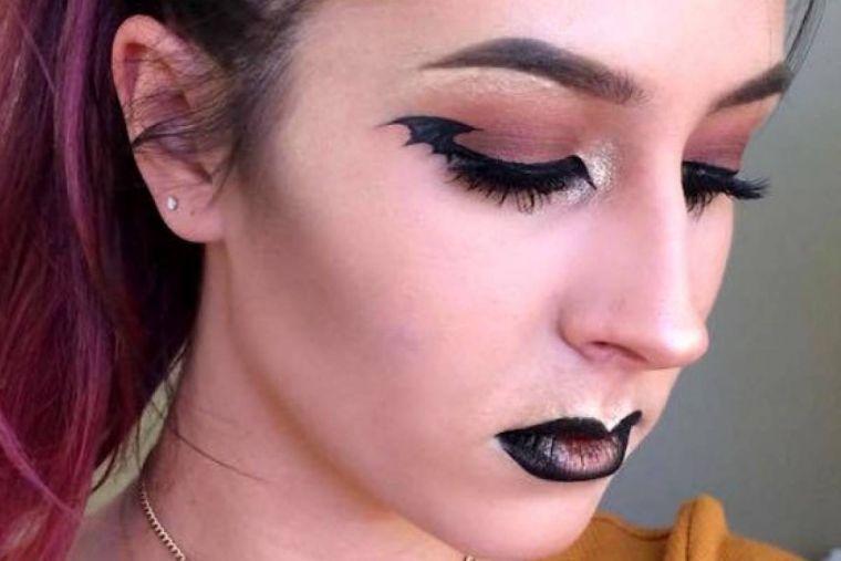 maquillaje de bruja alas