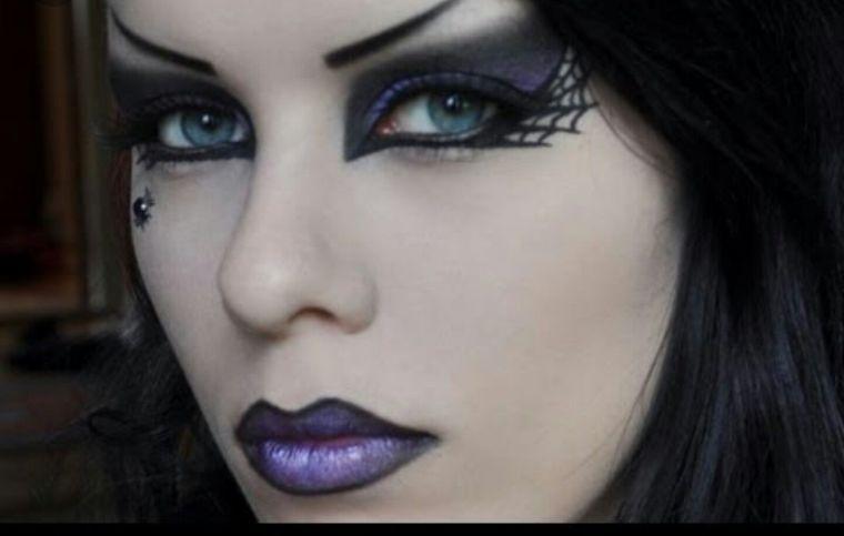 maquillaje de bruja araña