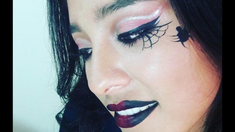 maquillaje de bruja arañita