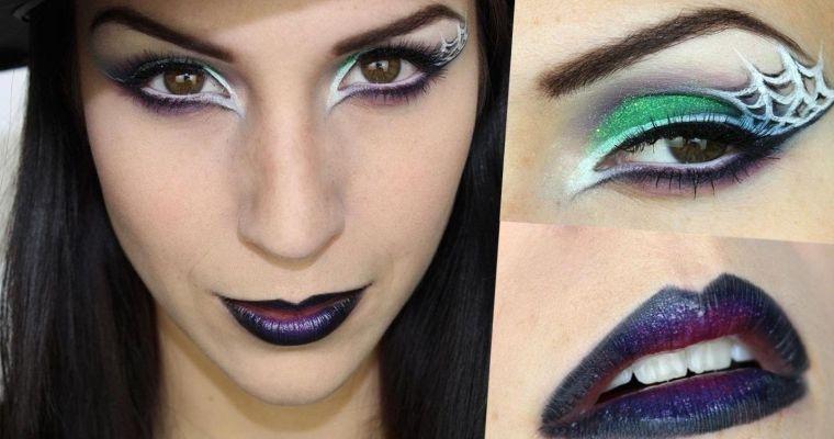 maquillaje de bruja balnco