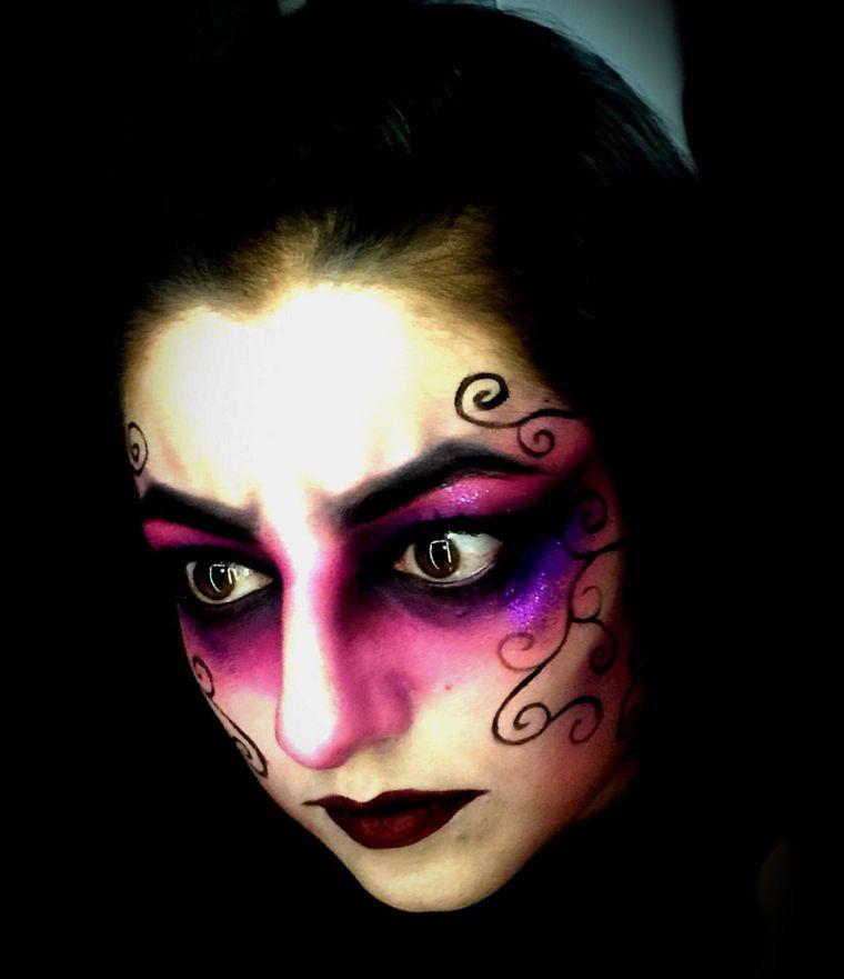 maquillaje de bruja color
