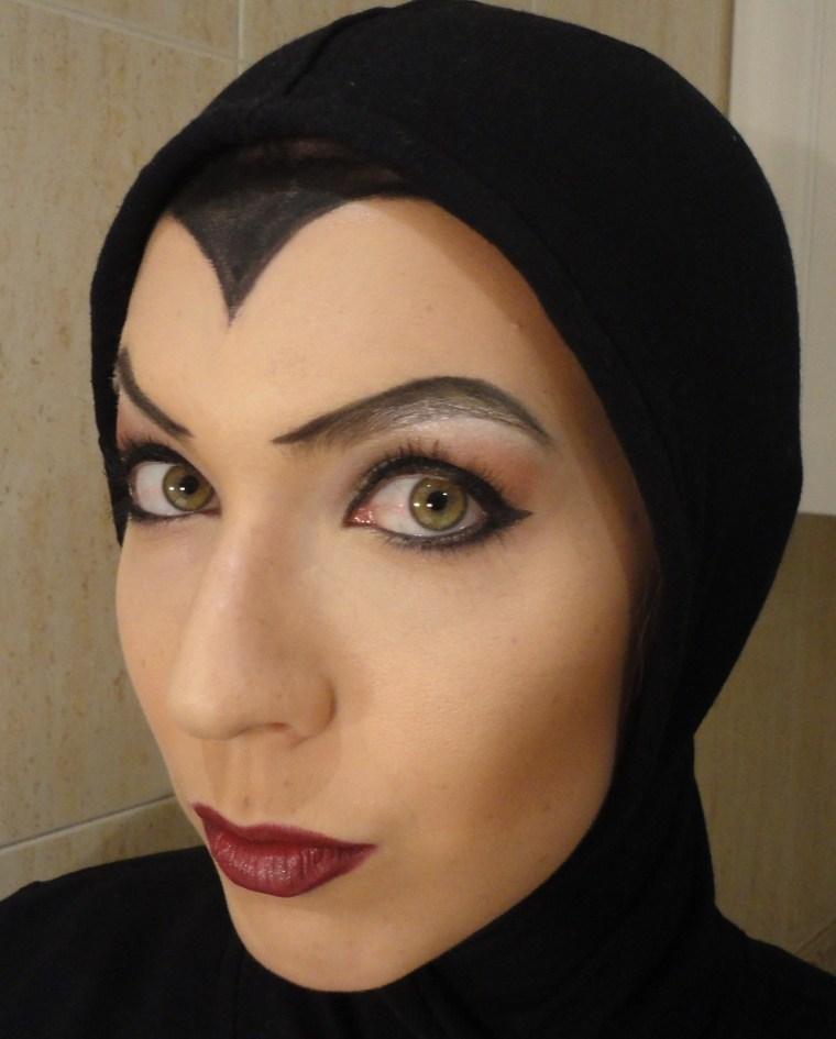 maquillaje de bruja cubierta