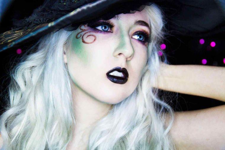 maquillaje de bruja delicada