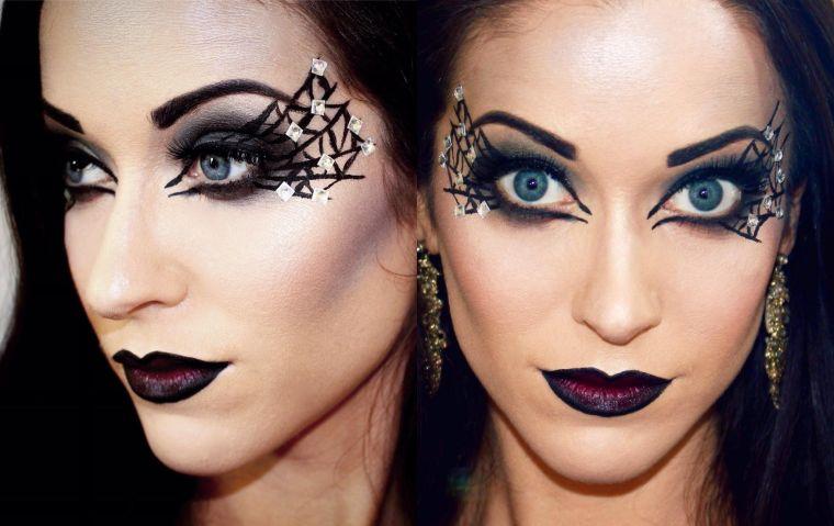 maquillaje de bruja diamante