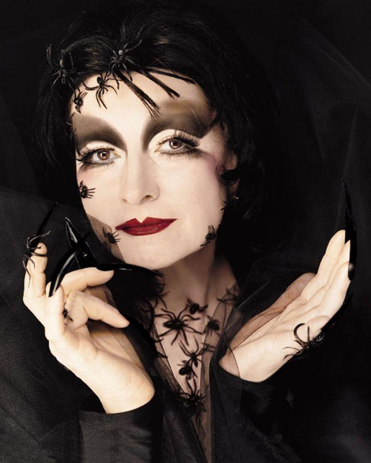 maquillaje de bruja elegante