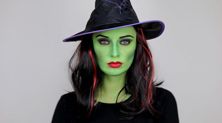 maquillaje de bruja extenciones
