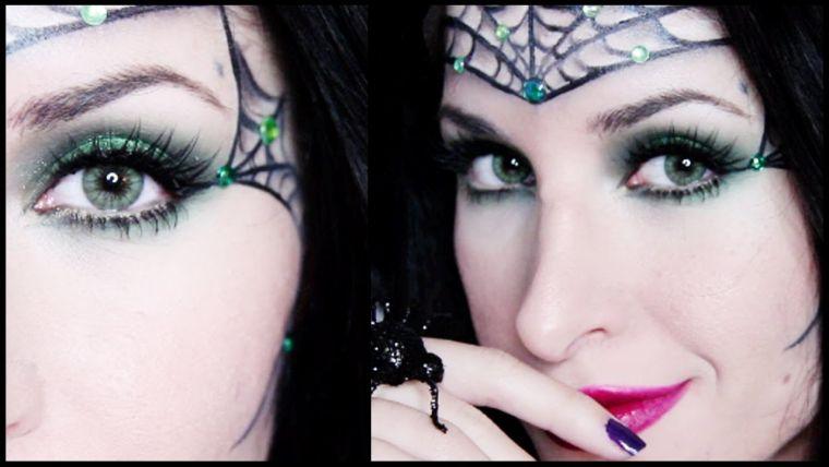 maquillaje de bruja frente