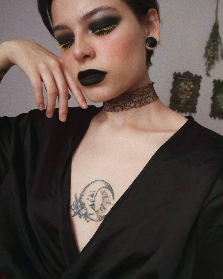 maquillaje de bruja luna
