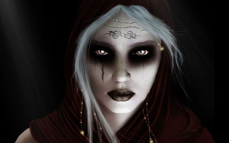maquillaje de bruja miedo
