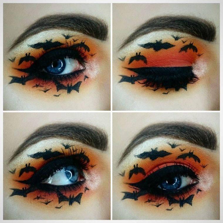 maquillaje de bruja murcielago