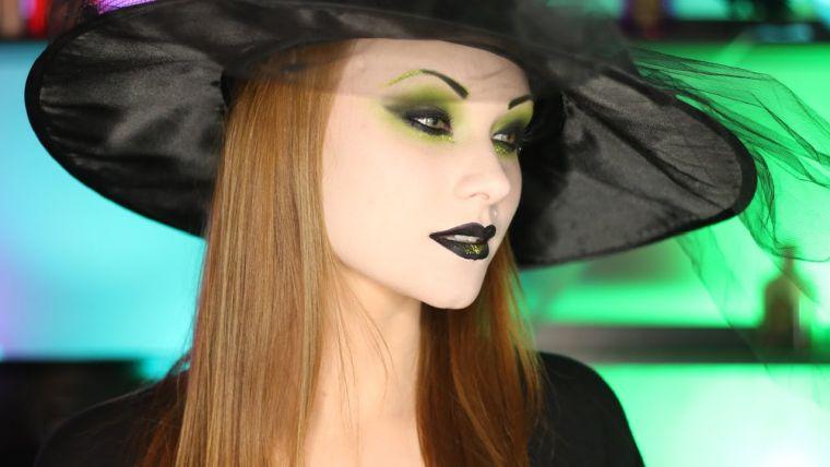 maquillaje de bruja negro
