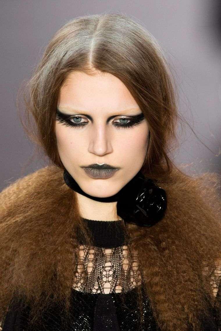 maquillaje de bruja peinado