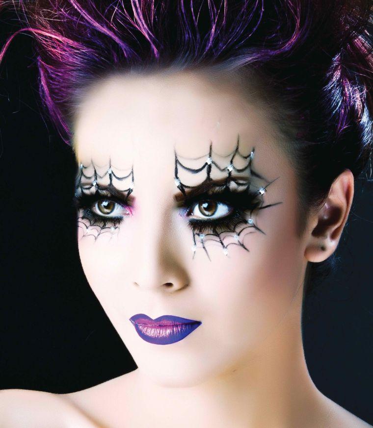 maquillaje de bruja tela