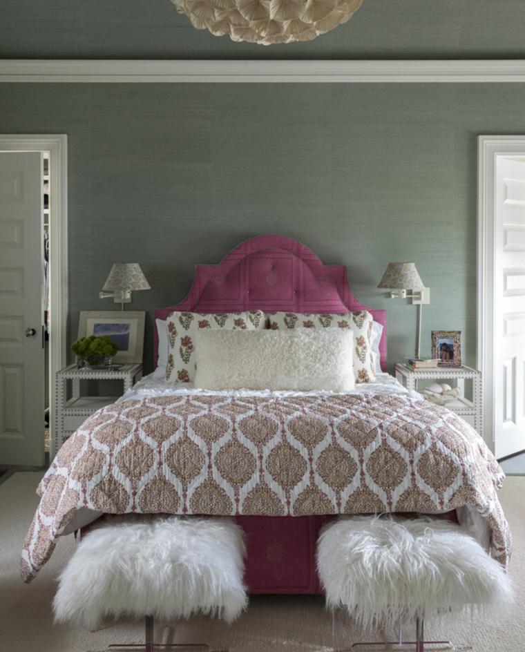 recamaras-juveniles-modernas-cama-rosa