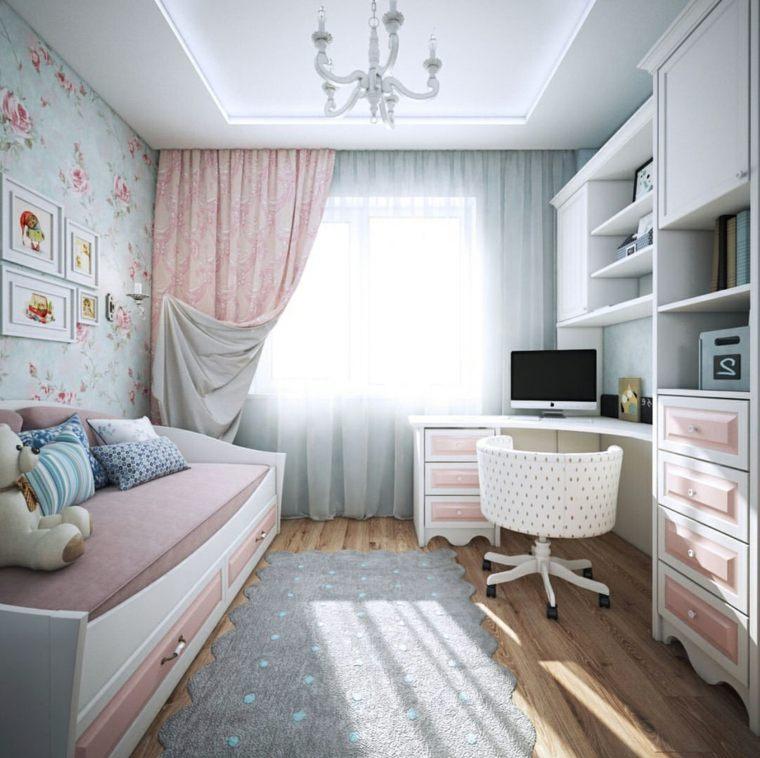 recamaras-juveniles-modernas-rosa-blanco