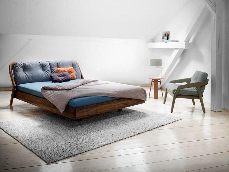 recamaras modernas de madera-cama