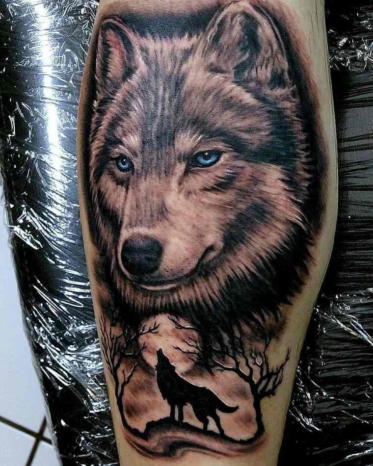 tatuajes de lobos bello