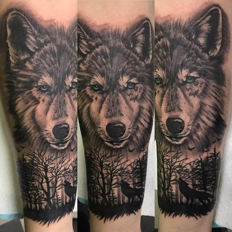 tatuajes de lobos fiel