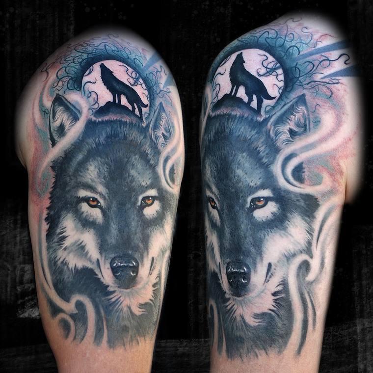 tatuajes de lobos imagen