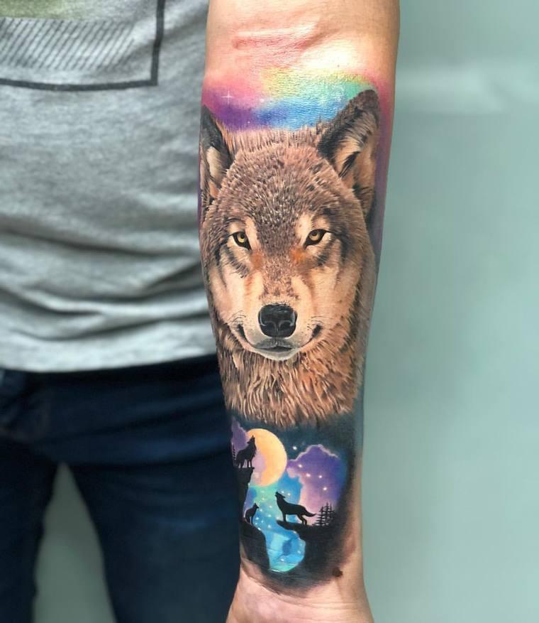 tatuajes de lobos inteligencia