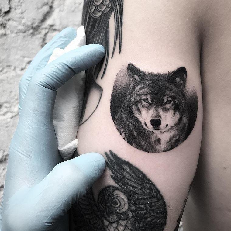tatuajes de lobos leal