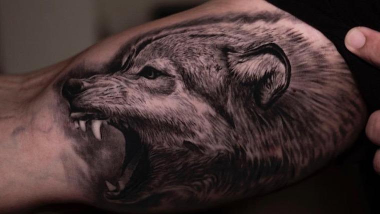 tatuajes de lobos lobo