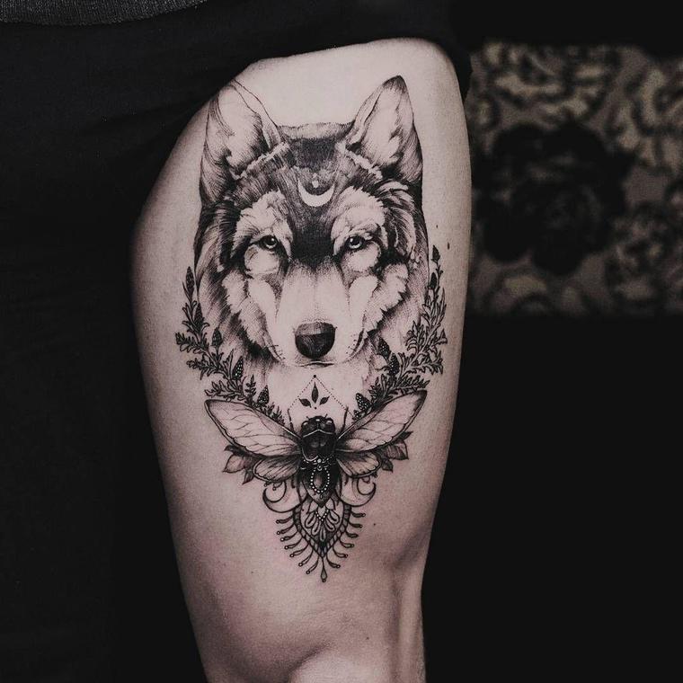 tatuajes de lobos tranquilidad