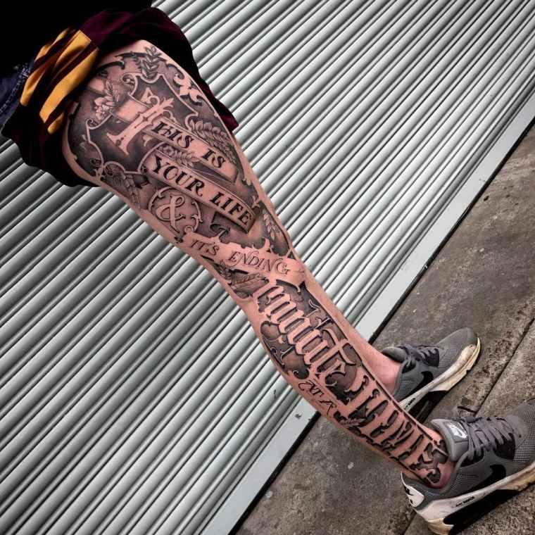 tipografía pierna