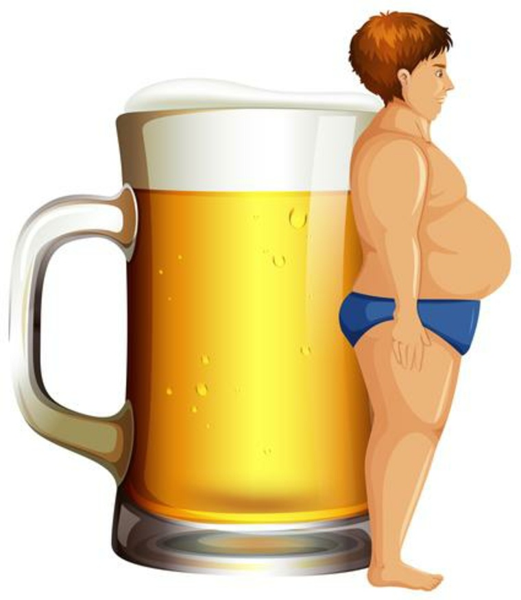 barriga de cerveza