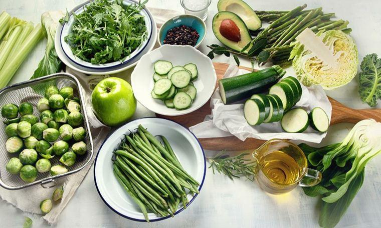 Verduras en una dieta keto
