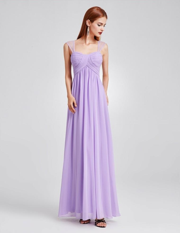 Vestidos de dama de honor de color lavanda
