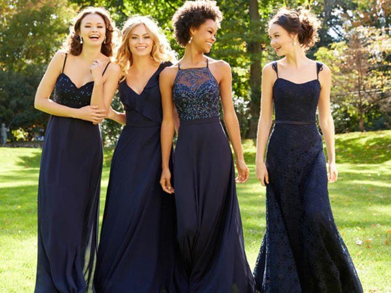 vestidos color azul oscuro