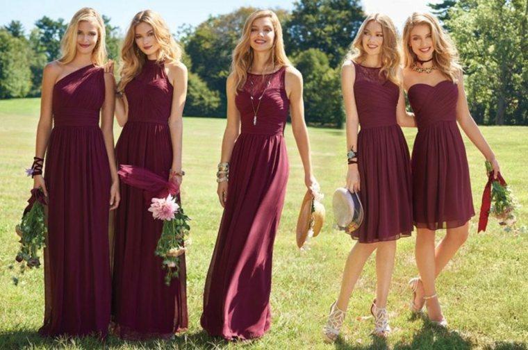 Vestidos burdeos