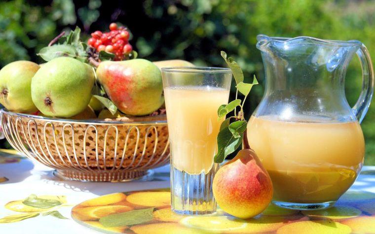 zumos naturales pera