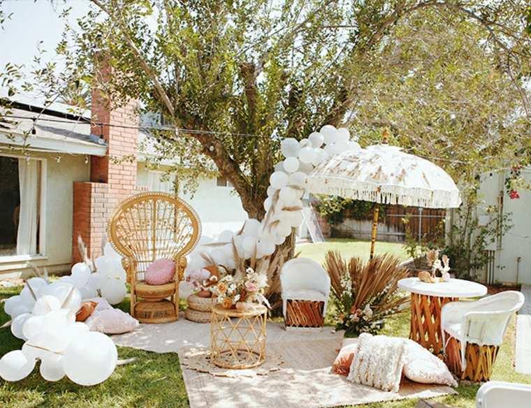 adornos para baby shower de niñacelebrar-jardin