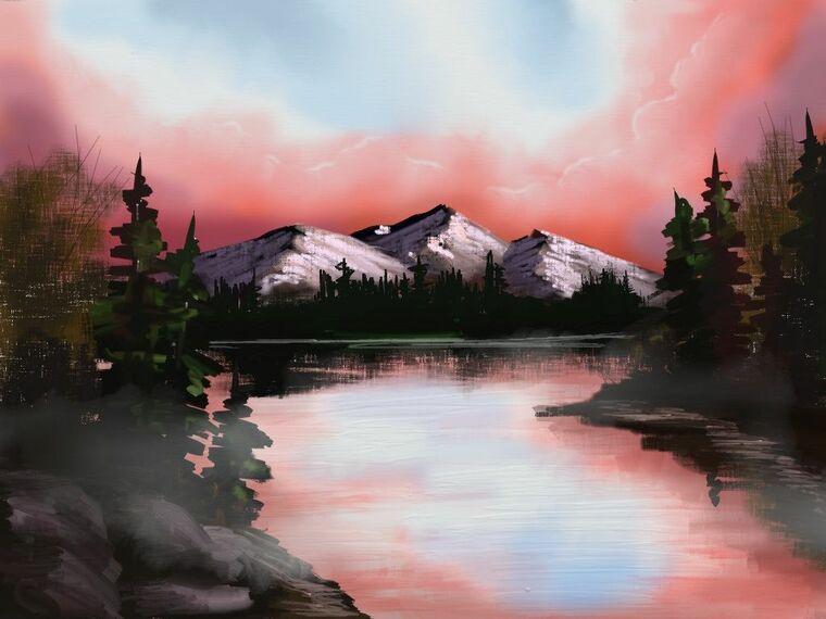 aprender a pintar atardecer