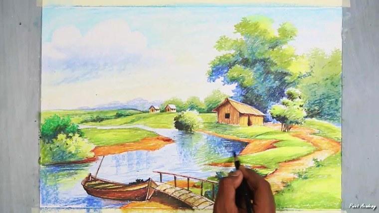 aprender a pintar paisaje