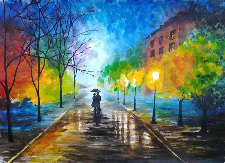 aprender a pintar paseo