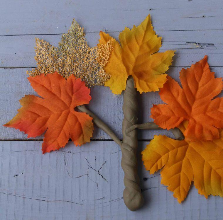 bienvenido otoño plastilina