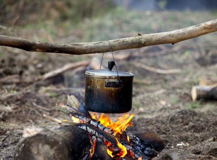 cacerola fuego