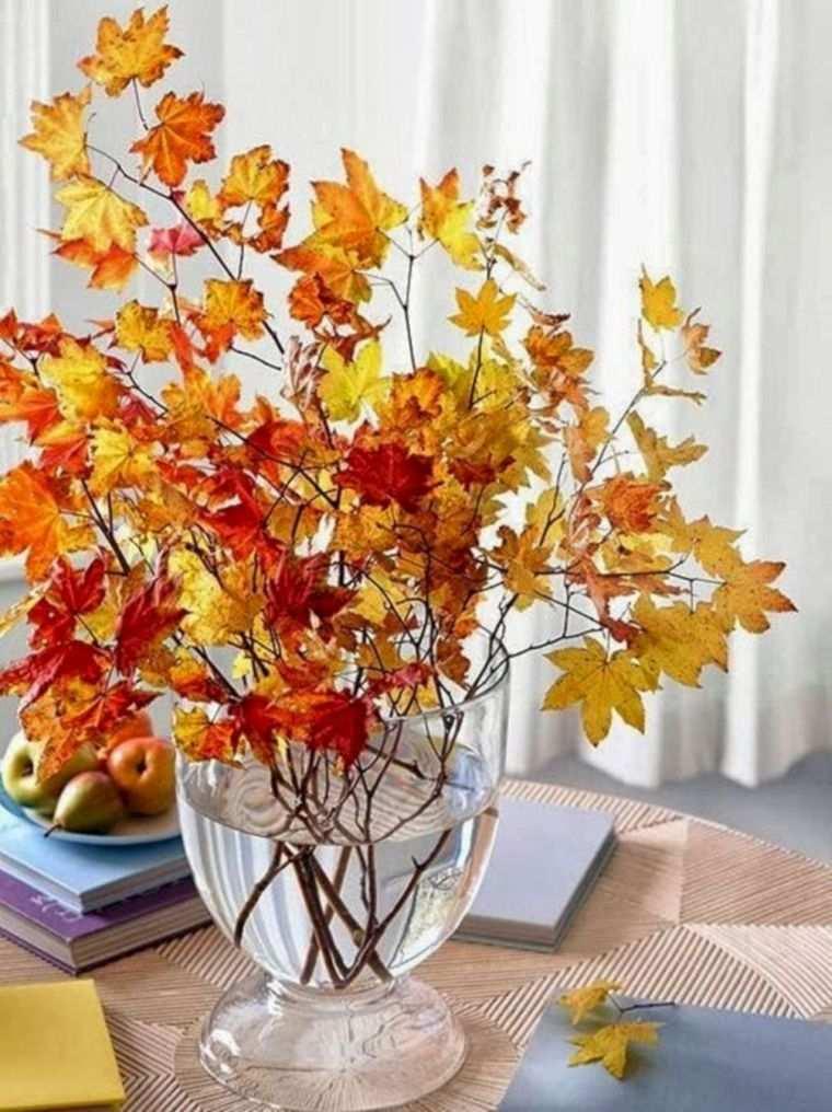 centros de mesa originales hojas
