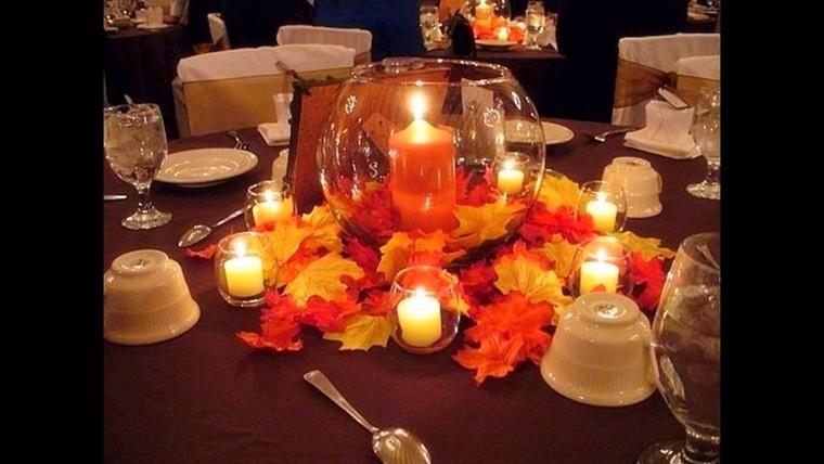 centros de mesa originales velas