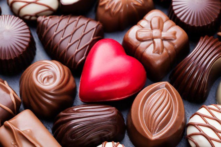 cobertura de chocolate corazon