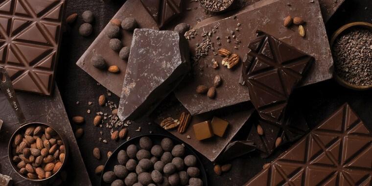 cobertura de chocolate negro
