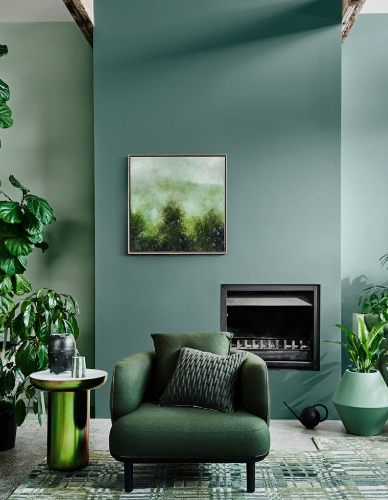 color-verde-sala-estar-diseno-original