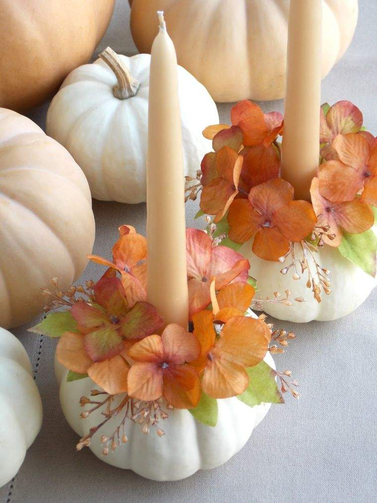 colores de otoño candelabros