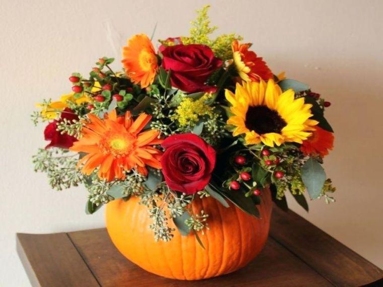 colores de otoño florero
