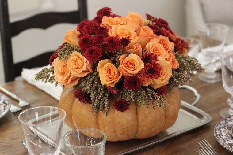 colores de otoño floreros